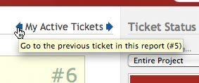 Improved Ticket Navigation
